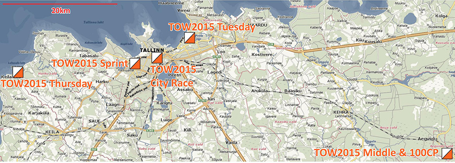 TOW 2015 locations